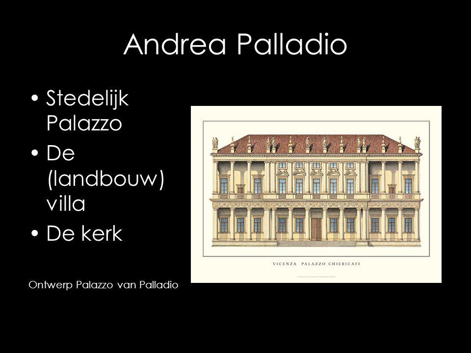 Andrea Palladio Stedelijk Palazzo De (landbouw) villa De kerk Ontwerp Palazzo van Palladio