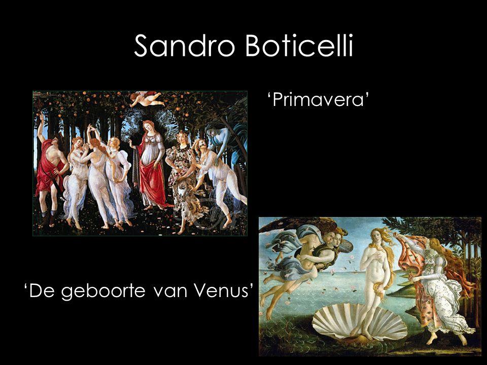Sandro Boticelli 'Primavera' 'De geboorte van Venus'