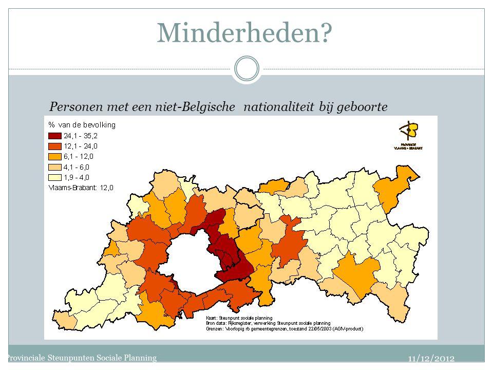 Minderheden Personen met een niet-Belgische nationaliteit bij geboorte