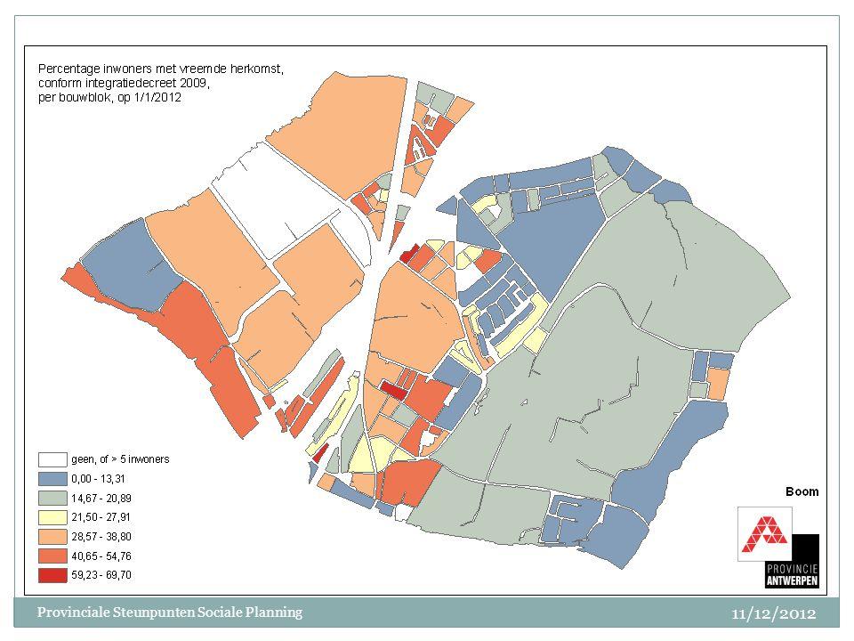 11/12/2012 Provinciale Steunpunten Sociale Planning