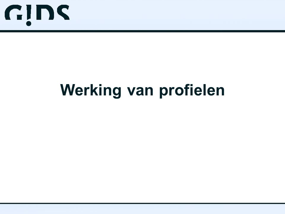Werking van profielen