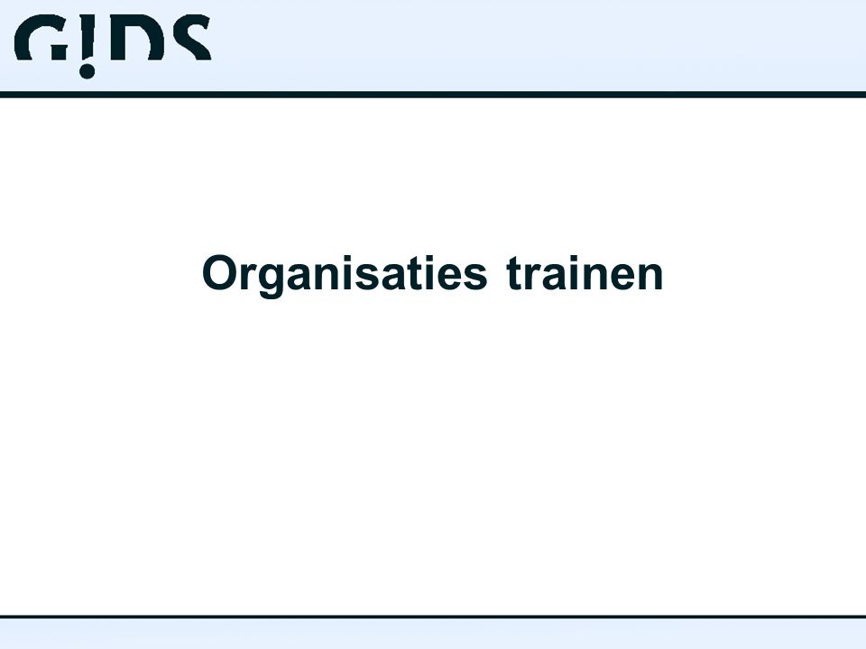 Organisaties trainen