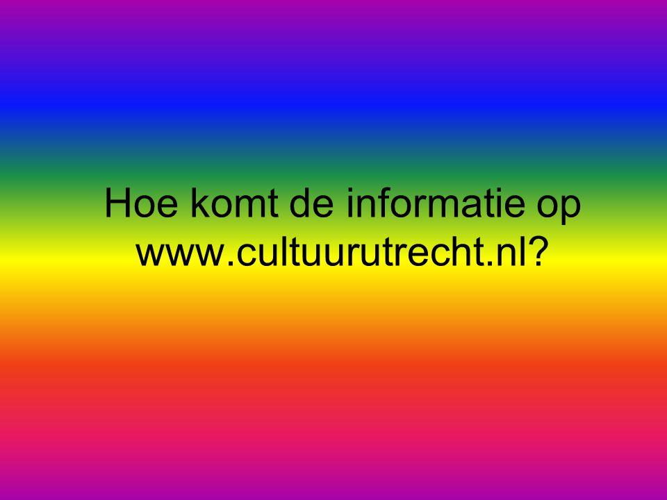 Hoe komt de informatie op www.cultuurutrecht.nl?