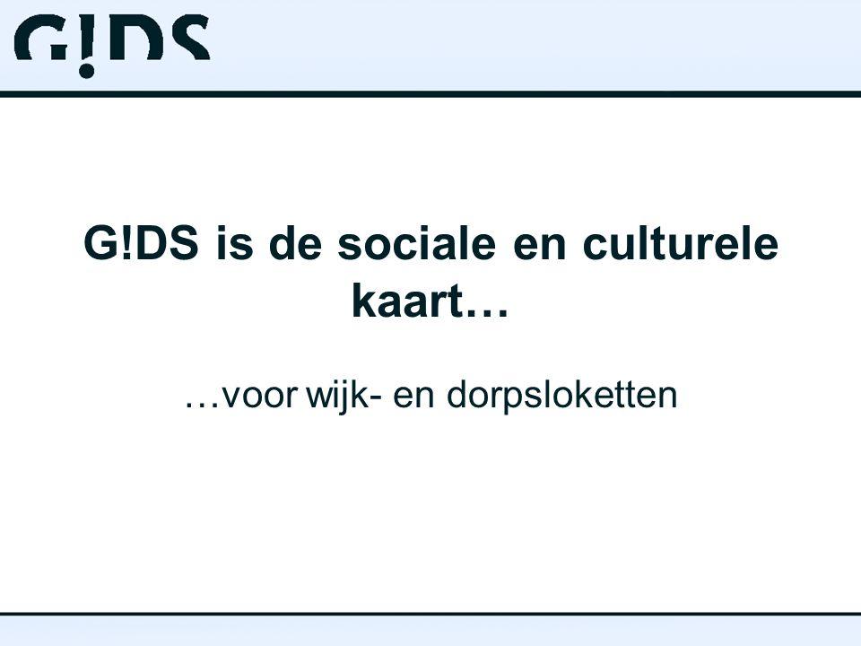 G!DS is de sociale en culturele kaart… …voor wijk- en dorpsloketten