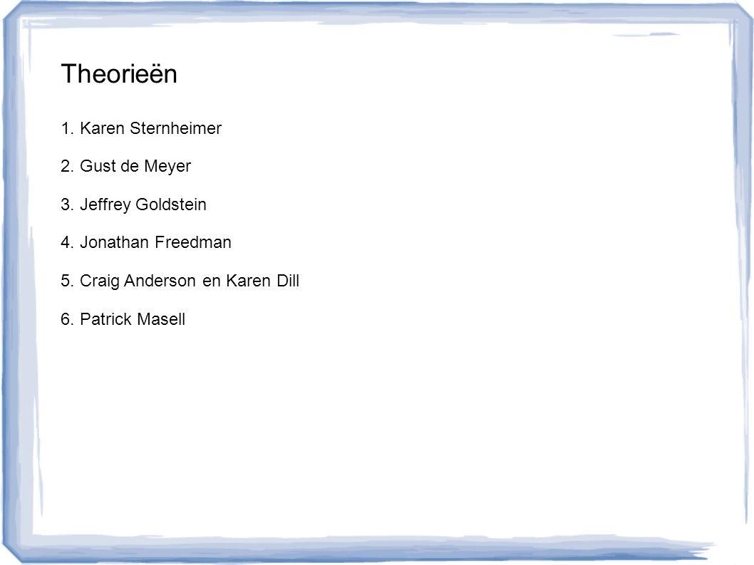Onderzoekers 1.Karen Sternheimer 2. Gust de Meyer 3.