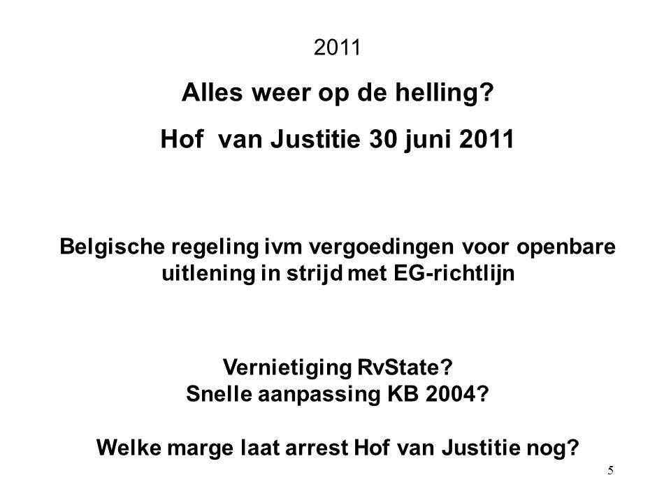 5 2011 Alles weer op de helling.