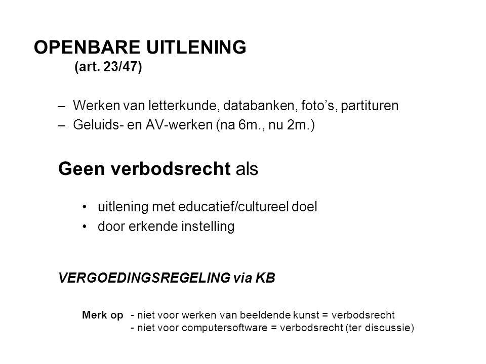 OPENBARE UITLENING (art.