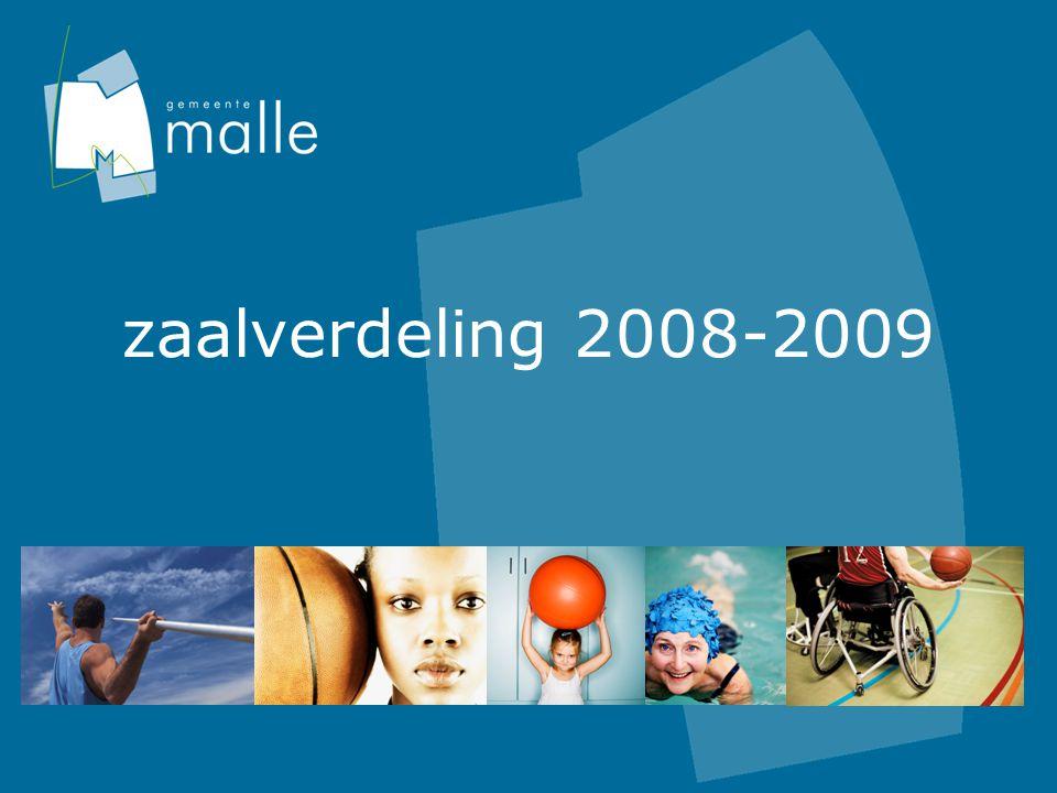 zaalverdeling 2008-2009