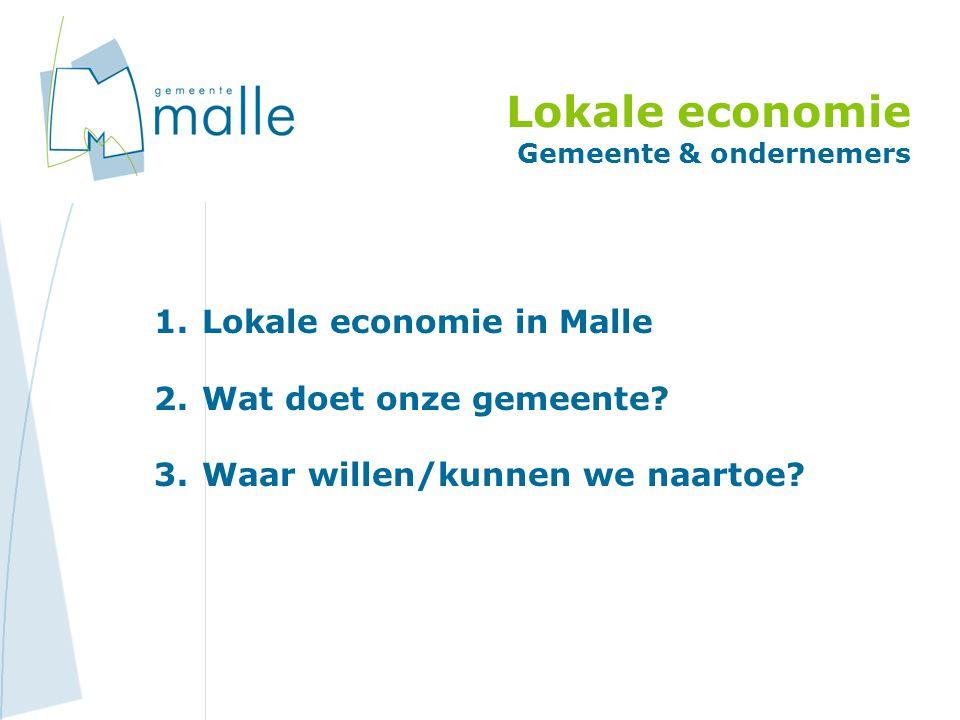 Lokale economie Gemeente & ondernemers 1.Lokale economie in Malle 2.Wat doet onze gemeente.