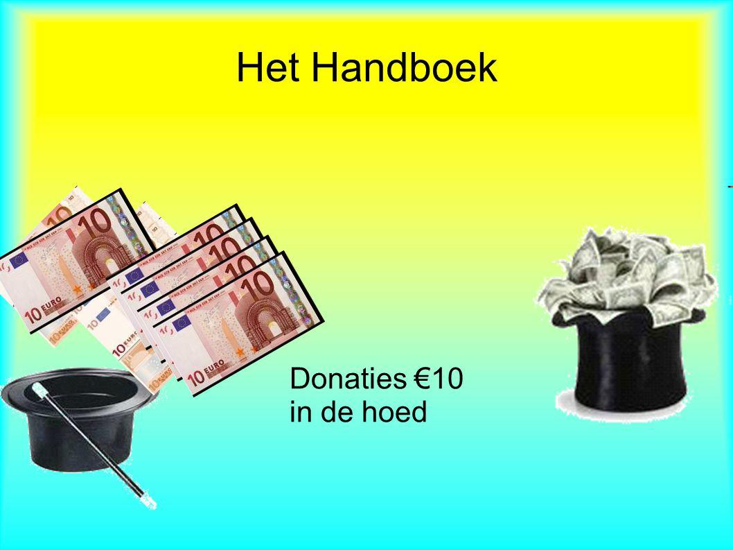 Het Handboek Donaties €10 in de hoed