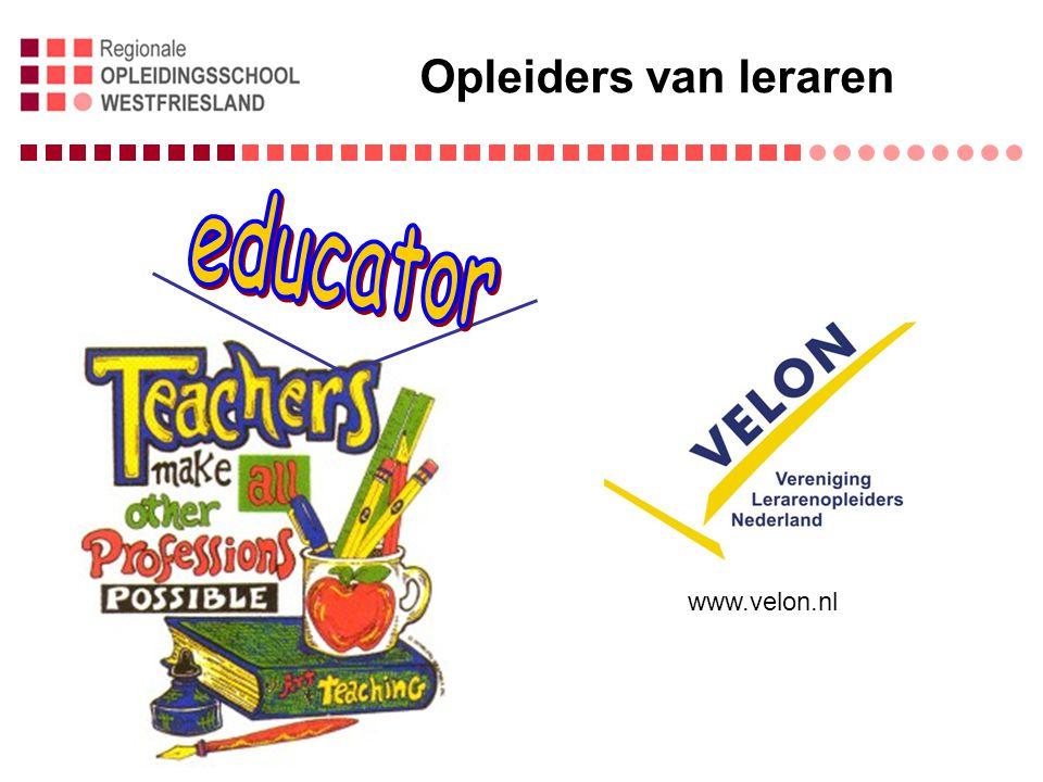 Opleiders van leraren www.velon.nl