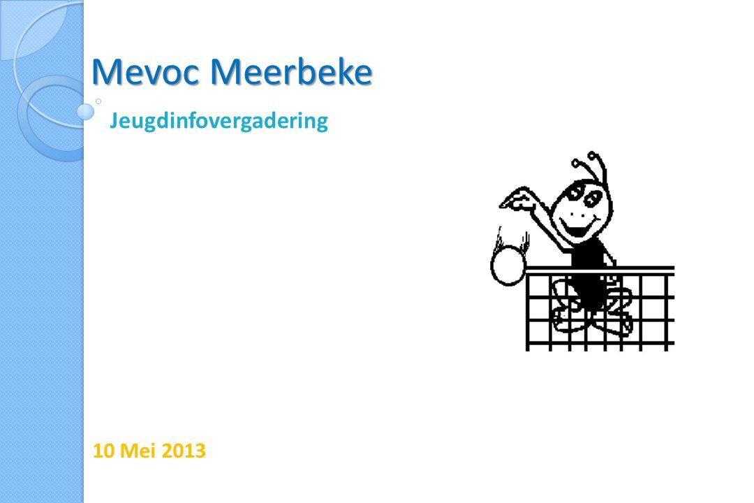 Mevoc Meerbeke Jeugdinfovergadering 10 Mei 2013