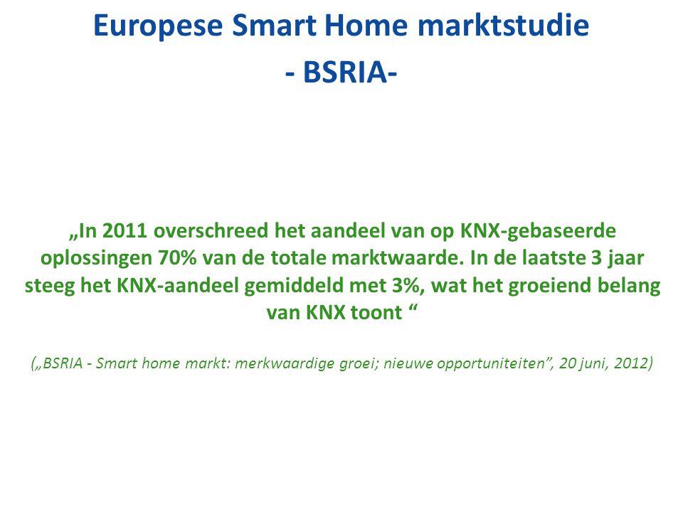 """""""In 2011 overschreed het aandeel van op KNX-gebaseerde oplossingen 70% van de totale marktwaarde. In de laatste 3 jaar steeg het KNX-aandeel gemiddeld"""