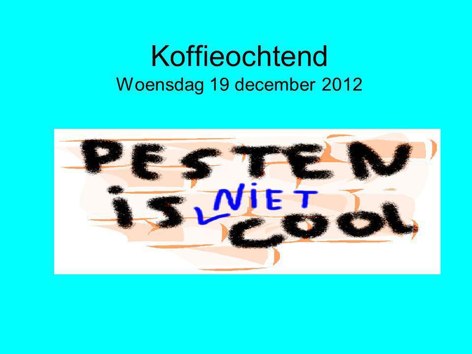 Koffieochtend Woensdag 19 december 2012