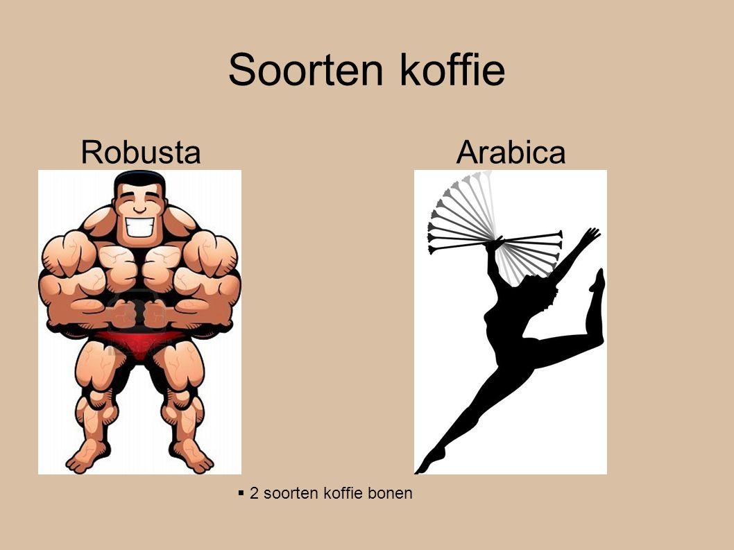 Soorten koffie Robusta Arabica  2 soorten koffie bonen