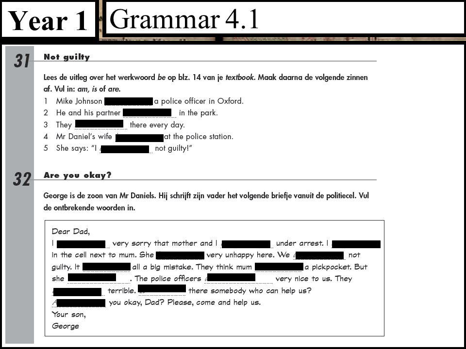 Year 1 Grammar 4.1