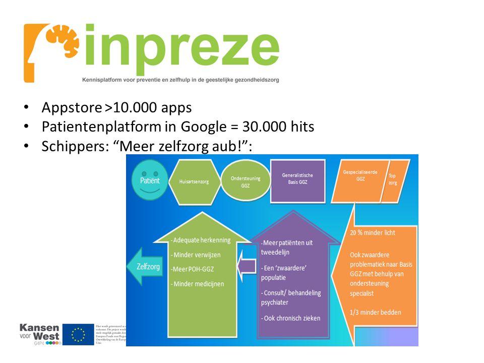 """Appstore >10.000 apps Patientenplatform in Google = 30.000 hits Schippers: """"Meer zelfzorg aub!"""":"""