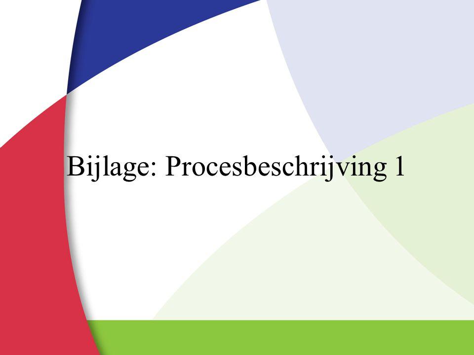 Bijlage: Procesbeschrijving 1