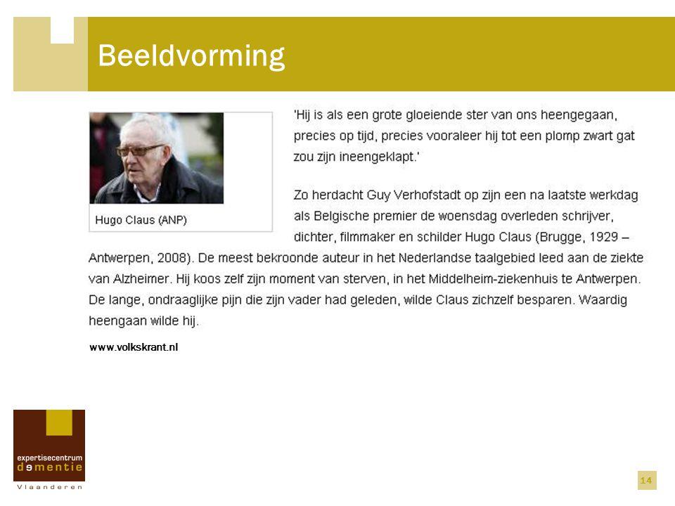 14 Beeldvorming www.volkskrant.nl