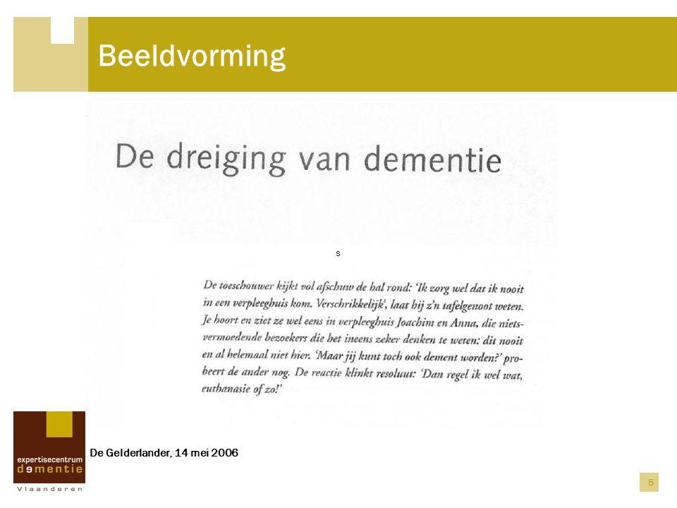 5 Beeldvorming De Gelderlander, 14 mei 2006
