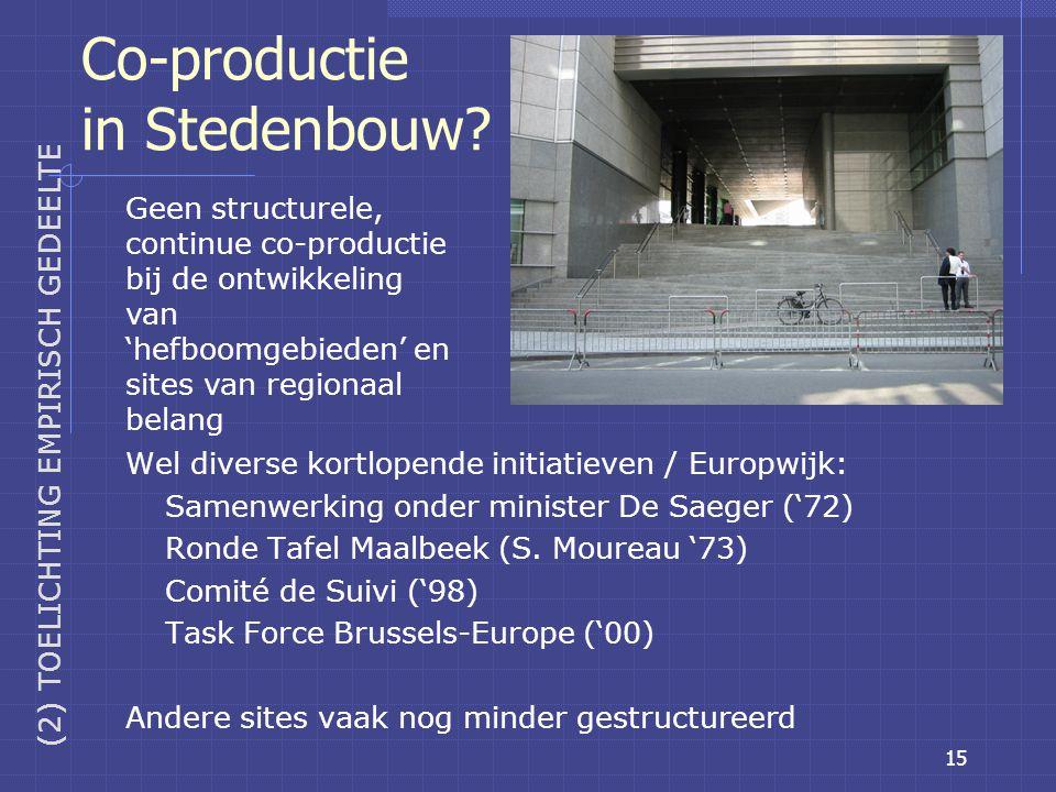 15 Co-productie in Stedenbouw.