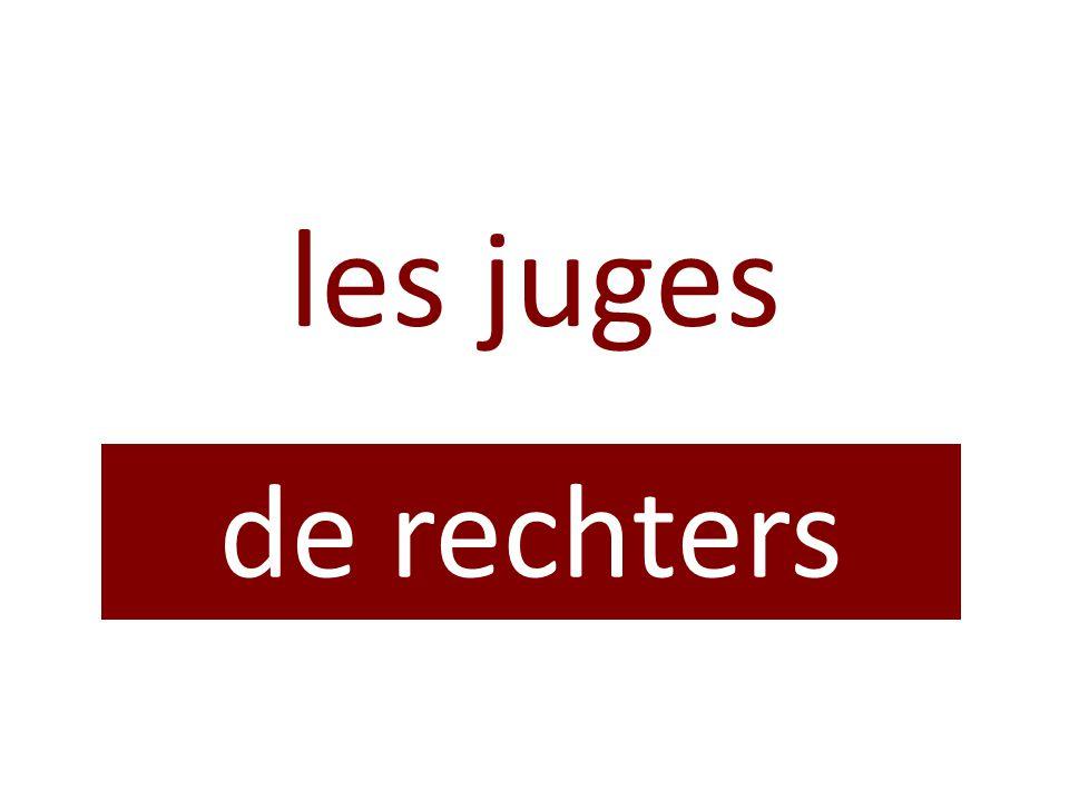 les juges de rechters