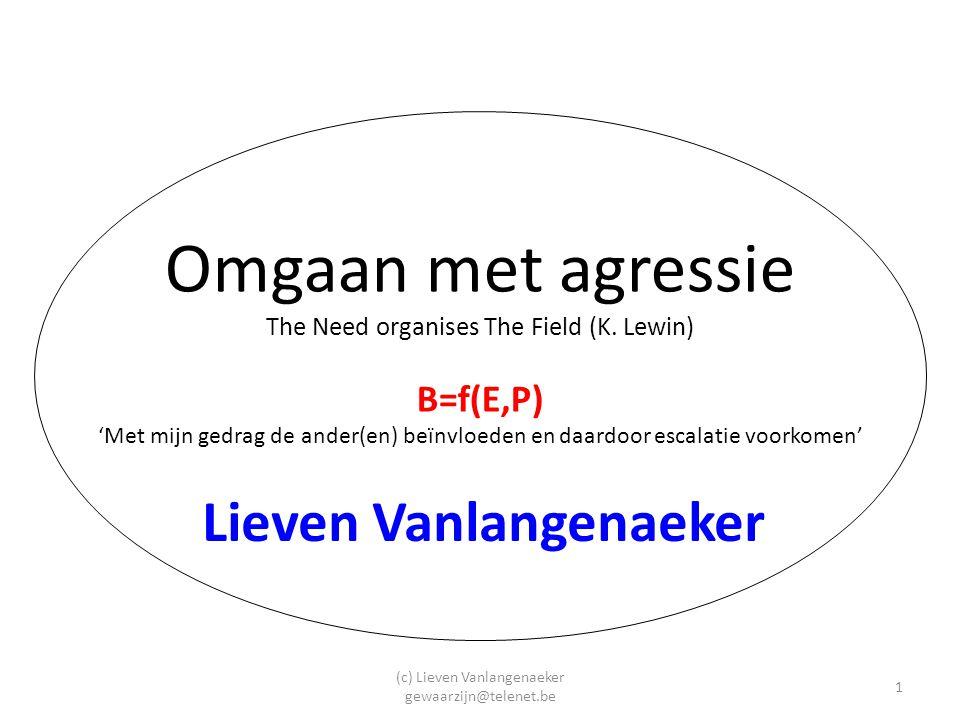 (c) Lieven Vanlangenaeker gewaarzijn@telenet.be 12 Stap 3: Geeft u uw medewerkers voorlichting, instructie en training over agressie en geweld.