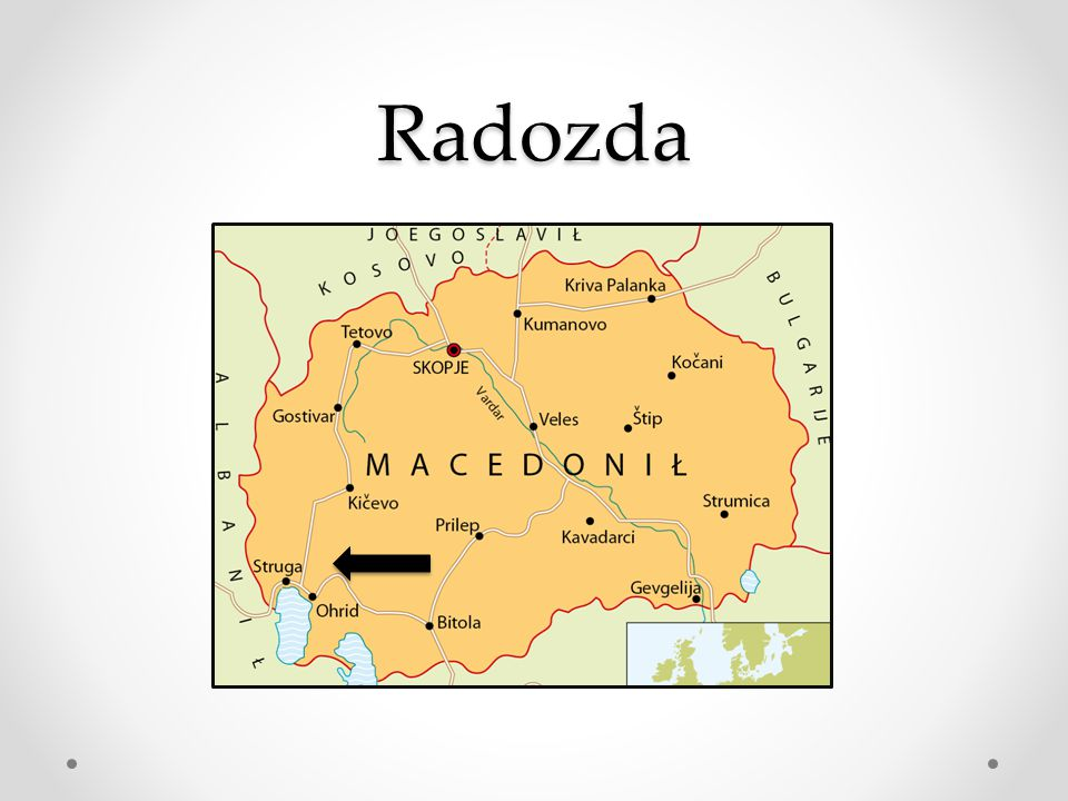 Weetjes Grootte 25.713 m2 Inwoners 2.087.000 Taal Macedonisch Hoofdstad Skopje Volkeren 64,7% Orthodox, 33,3% Islamiet Valuta Denar