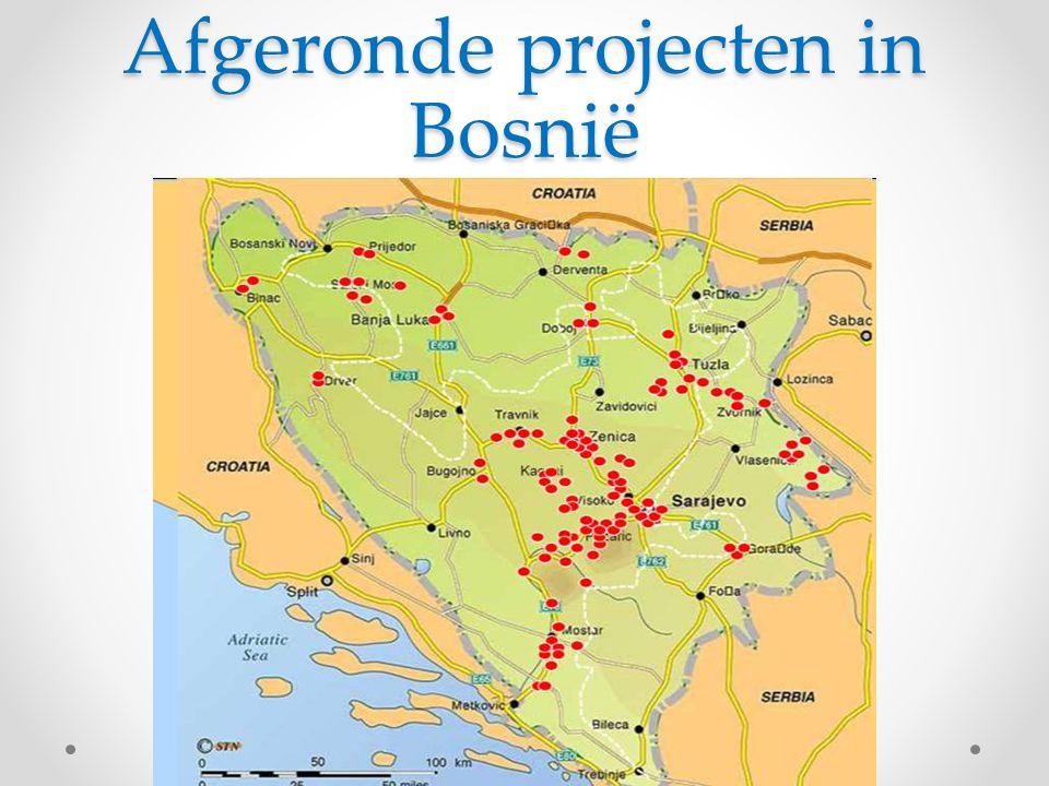 Afgeronde projecten in Bosnië