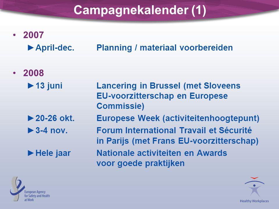 Campagnekalender (1) 2007 ►April-dec.