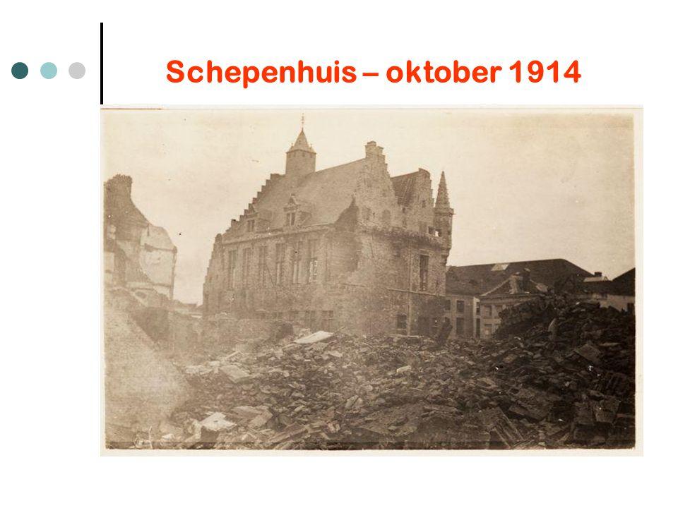 Schepenhuis – oktober 1914