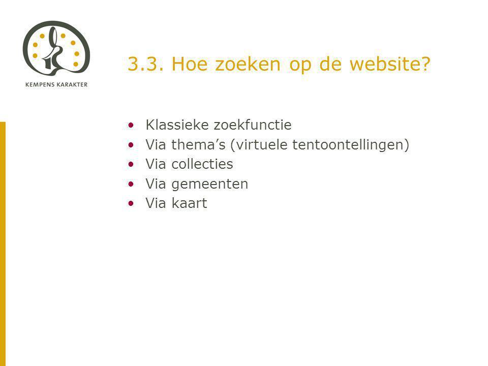 3.3. Hoe zoeken op de website.