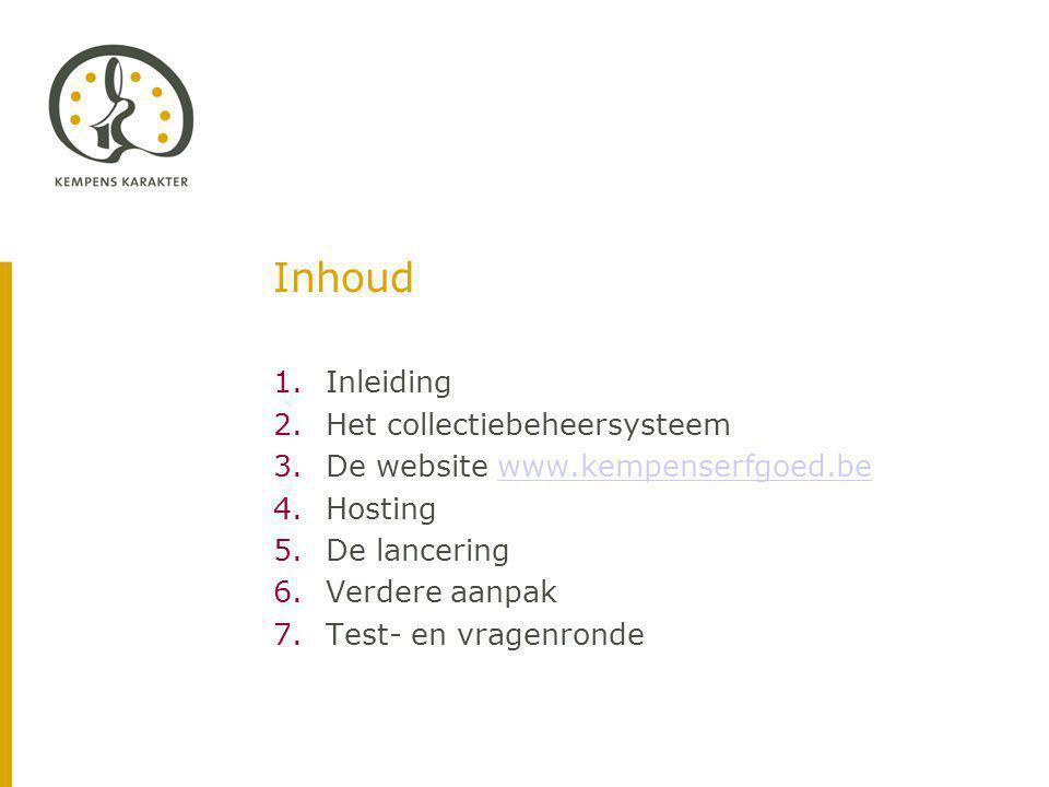 6.4.Timing Oplevering databank en website. → eerste helft oktober 2010 Oprichting werkgroep.