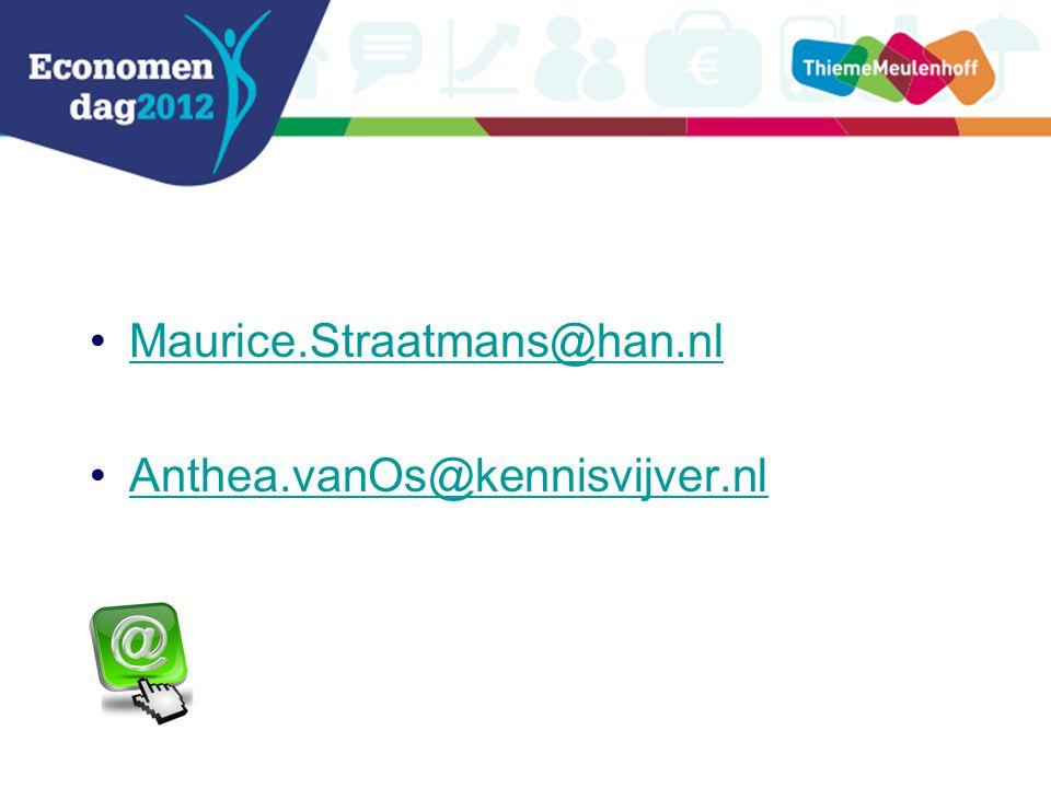 Maurice.Straatmans@han.nl Anthea.vanOs@kennisvijver.nl