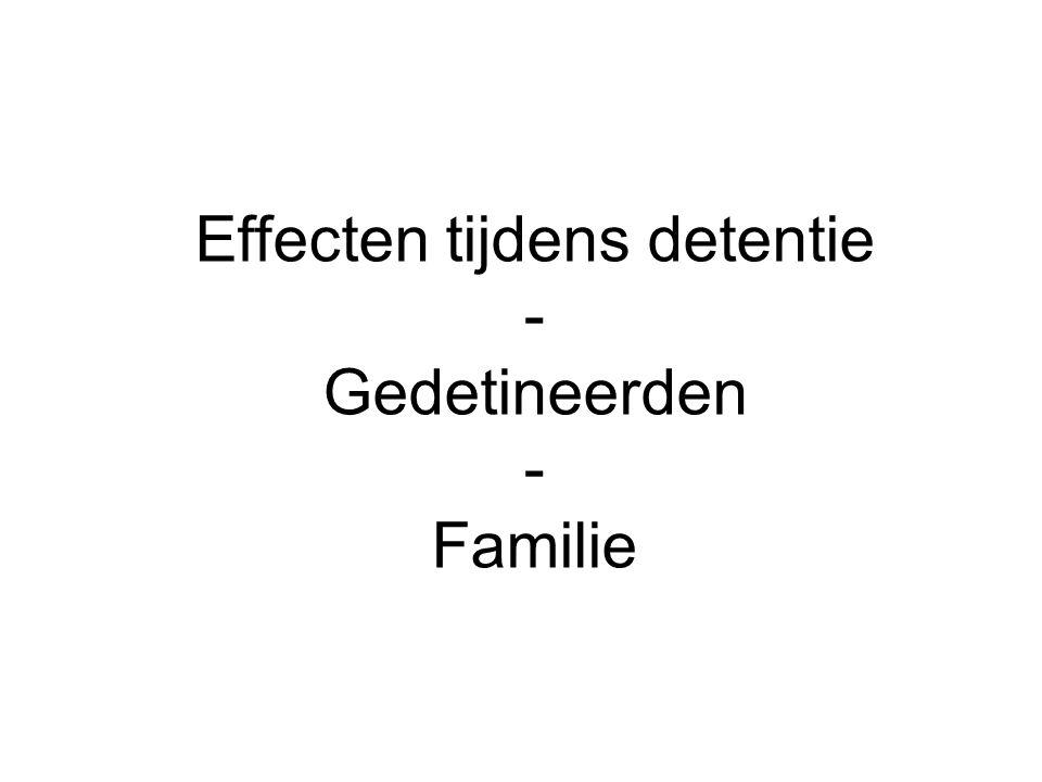Effecten tijdens detentie - Gedetineerden - Familie
