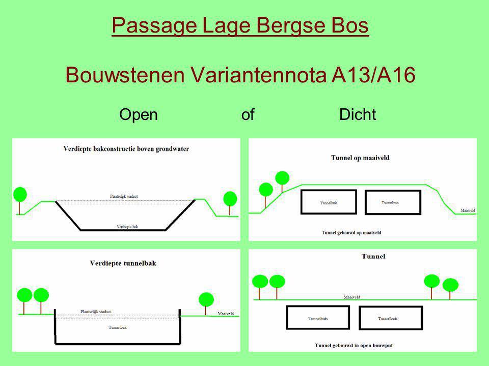 Passage Lage Bergse Bos Bouwstenen Variantennota A13/A16 Open of Dicht