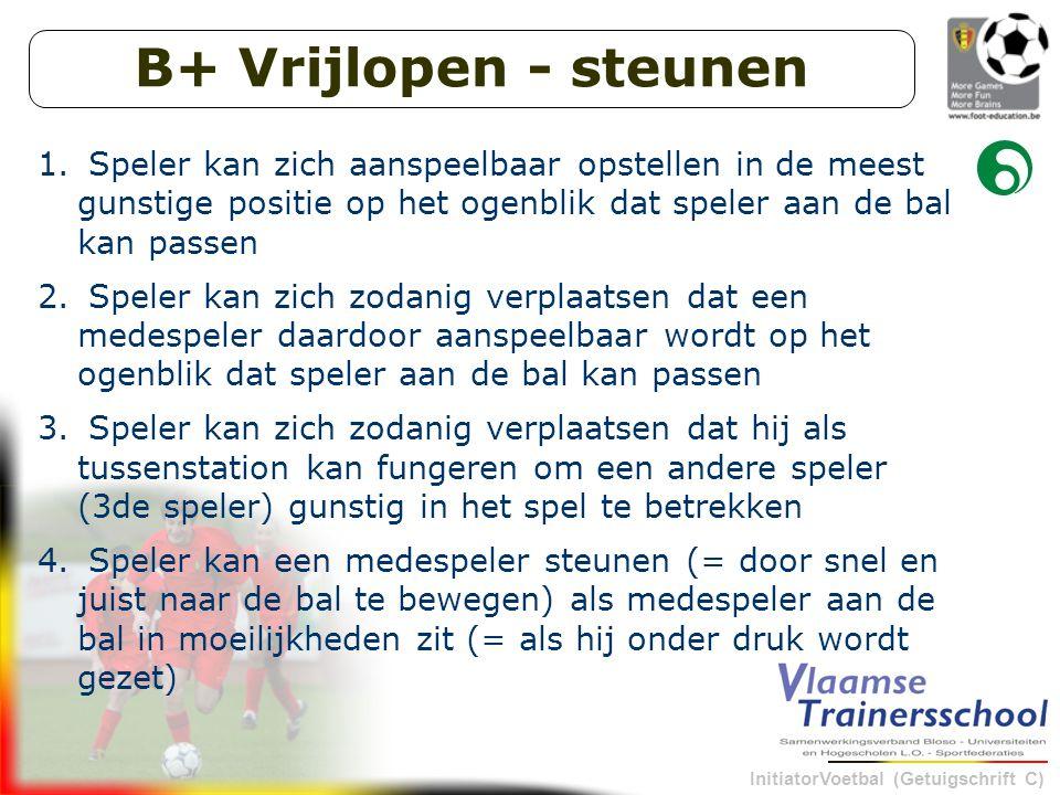 InitiatorVoetbal (Getuigschrift C) B+ Vrijlopen - steunen 1.