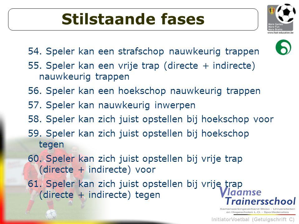 InitiatorVoetbal (Getuigschrift C) Stilstaande fases 54.