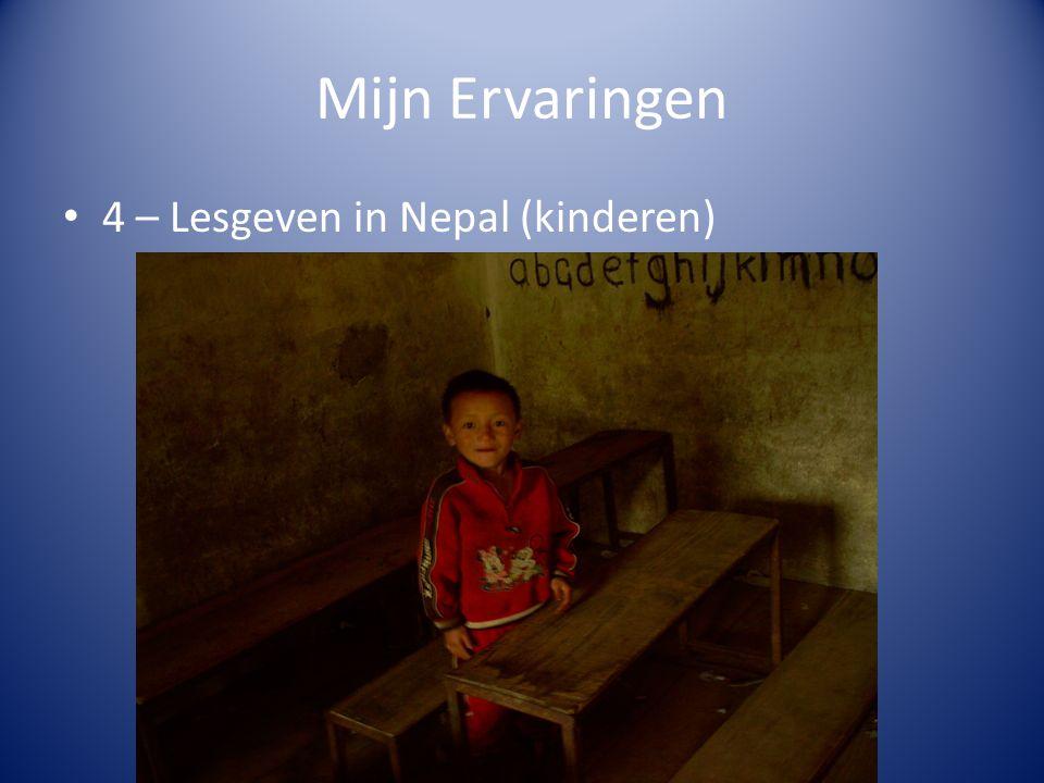 Mijn Ervaringen 4 – Lesgeven in Nepal (kinderen)