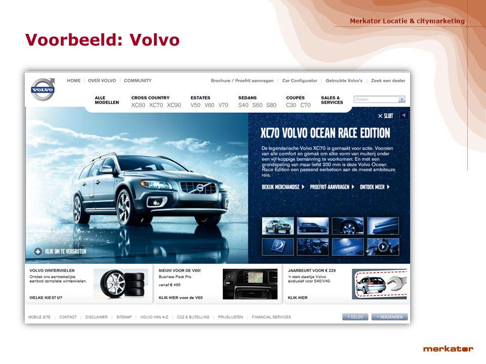 Merkator Locatie & citymarketing Voorbeeld: Volvo