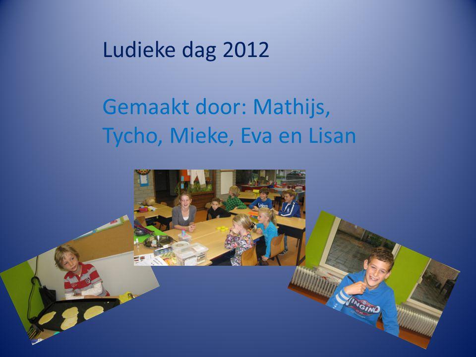 Ludieke dag 2012 Gemaakt door: Mathijs, Tycho, Mieke, Eva en Lisan
