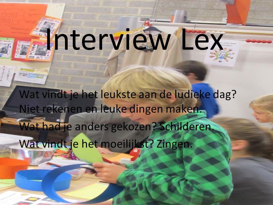Interview Eva Wat ben je aan het doen. Kleuren Vindt je het leuk.
