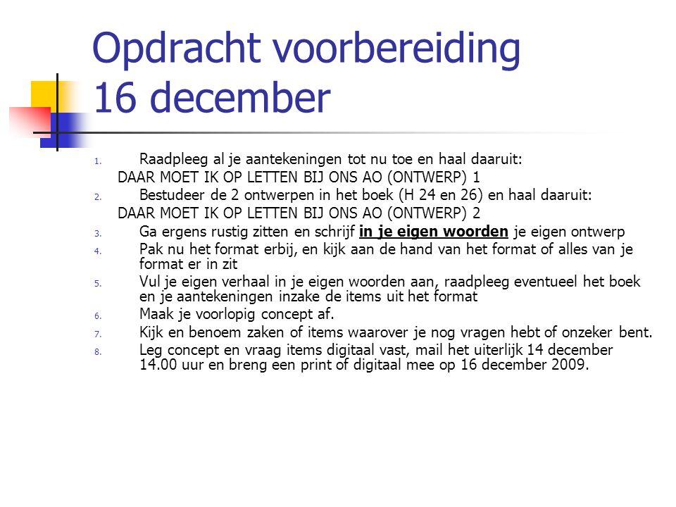 Opdracht voorbereiding 16 december 1.
