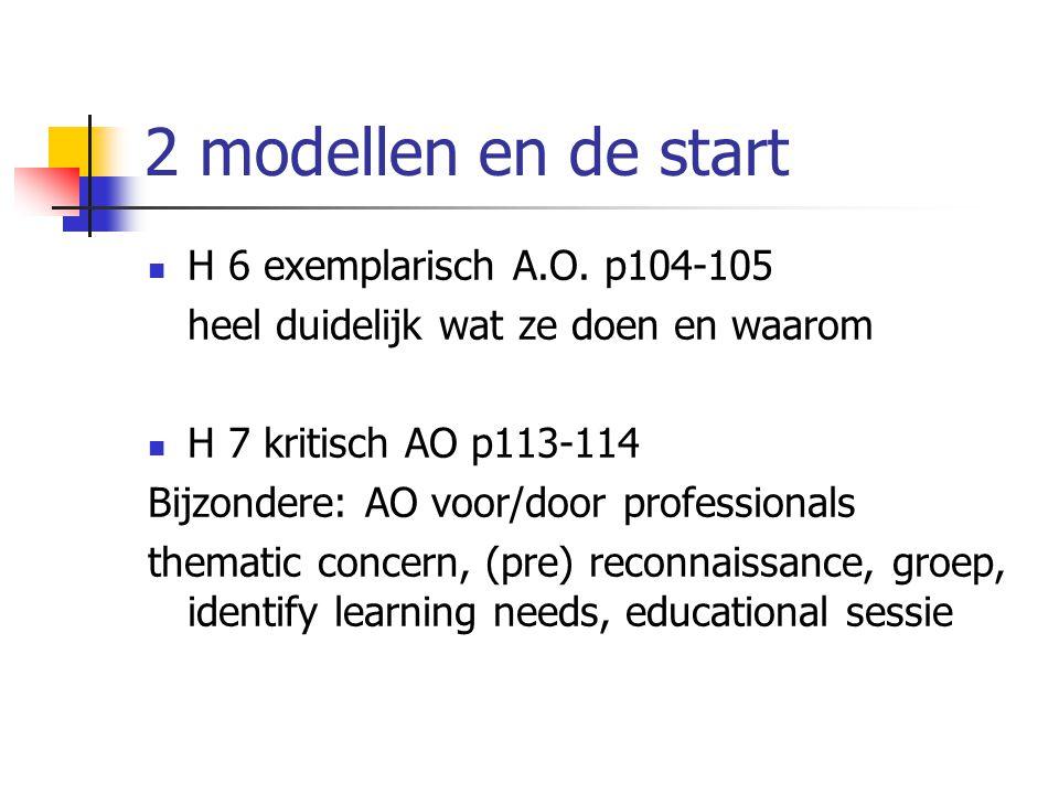 2 modellen en de start H 6 exemplarisch A.O.