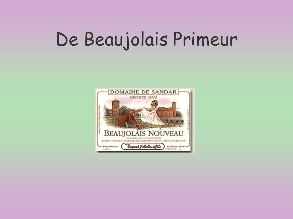 §Elke derde donderdag van november ligt de Beaujolais Primeur of Beaujolais Nouveau (in Frankrijk) weer in de winkels.