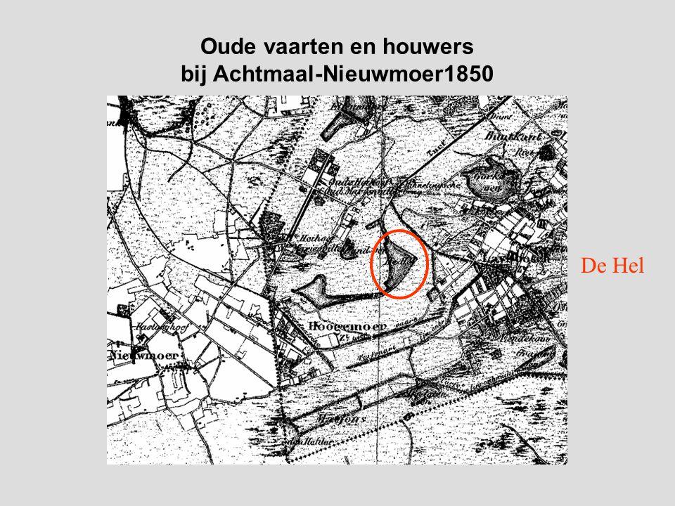Oude vaarten en houwers bij Achtmaal-Nieuwmoer1850 De Hel
