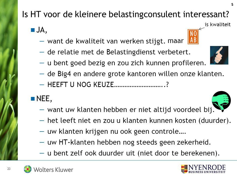 Voorwaarden voor slagen HT - betere invulling METAtoezicht: alleen controle systemen (?); - instellen (duidelijke) controletolerantie (stappen?); - sn