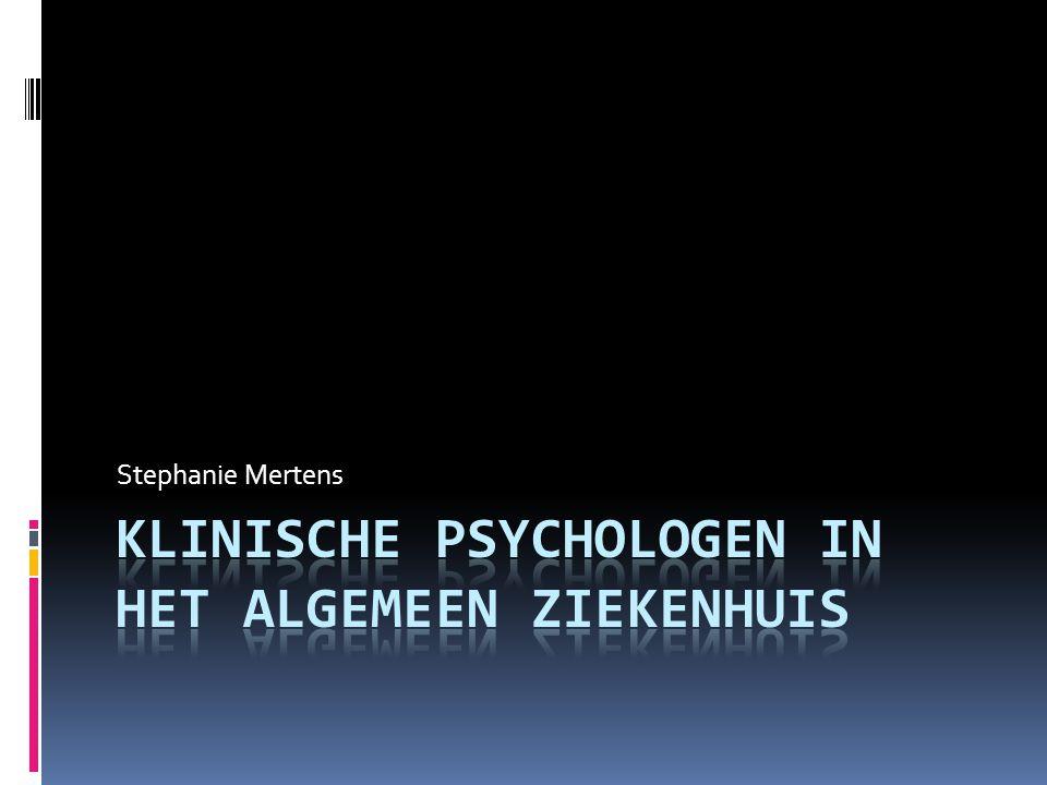 Inhoudstafel  Inleiding  Ziekte en gezondheid  Wat is klinische psychologie  Plaats, budgettering en honorering  Patiënten  Kwaliteitsaspecten  Toekomstige ontwikkelingen