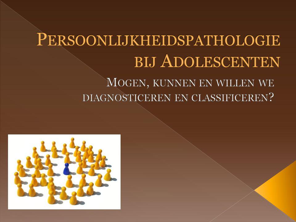 1.I NLEIDING 2. P ERSOONLIJKHEIDSPATHOLOGIE IN ONTWIKKELINGSPSYCHOLOGISCHE PERSPECTIEF 3.