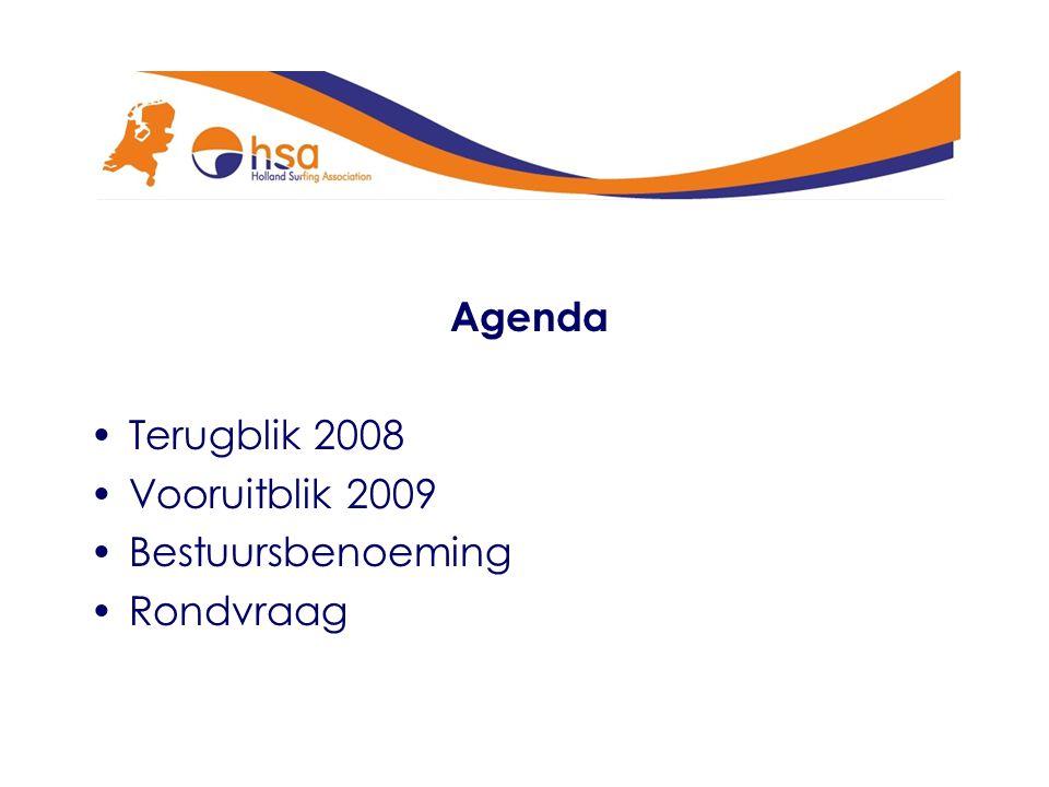 Agenda Terugblik 2008 Vooruitblik 2009 Bestuursbenoeming Rondvraag